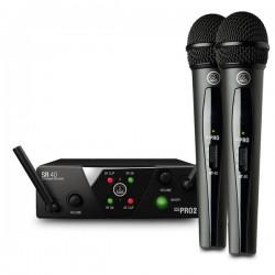 AKG WMS40 DUAL VOCAL DOPPIO RADIOMICROFONO PALMARE