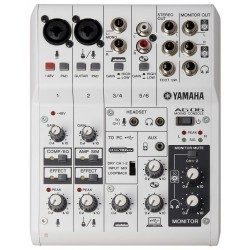 YAMAHA AG06 MIXER USB 6 CANALI CON INTERFACCIA AUDIO PER BROADCASTING / PODCASTING