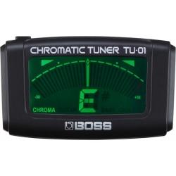 BOSS TU01 ACCORDATORE CROMATICO CLIP-ON PER CHITARRA / BASSO / UKULELE