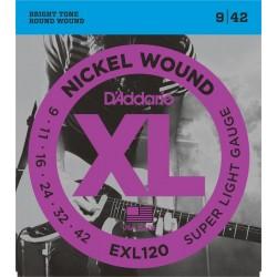 D\'ADDARIO EXL120 CORDE CHITARRA ELETTRICA 009-042