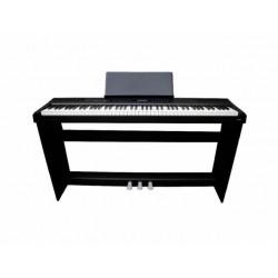 E-CHORD SP10 KIT PIANOFORTE DIGITALE 88 TASTI PESATI NERO + STAND + PEDALIERA