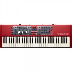 NORD ELECTRO 6D 61 PIANOFORTE DIGITALE 61 TASTI SEMIPESATI ROSSO