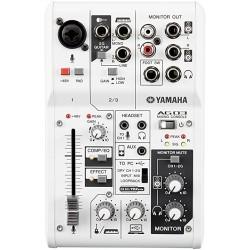 YAMAHA AG03 MIXER USB 3 CANALI CON INTERFACCIA AUDIO PER BROADCASTING / PODCASTING
