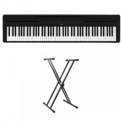 YAMAHA P45B PACK PIANOFORTE DIGITALE CON SUPPORTO DOPPIA SBARRA