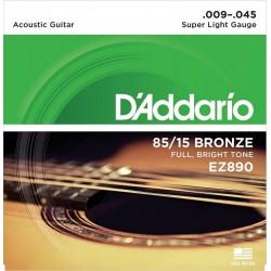 DADDARIO EZ890 MUTA DI CORDE PER CHITARRA ACUSTICA 009-045