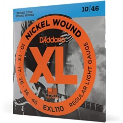 D\'ADDARIO EXL110 CORDIERA PER CHITARRA ELETTRICA NICKEL WOUND 010/046
