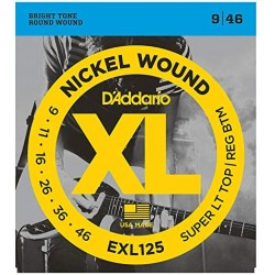 D\'ADDARIO EXL125 MUTA DI CORDE PER CHITARRA ELETTRICA NICKEL WOUND - 09/046