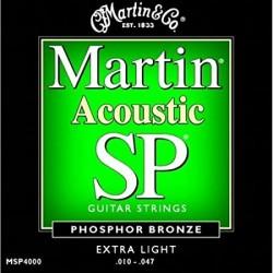 MARTIN MSP4000 CORDIERA PER CHITARRA ACUSTICA 92/8 PHOSPHOR BRONZE EXTRA LIGHT - 010/047